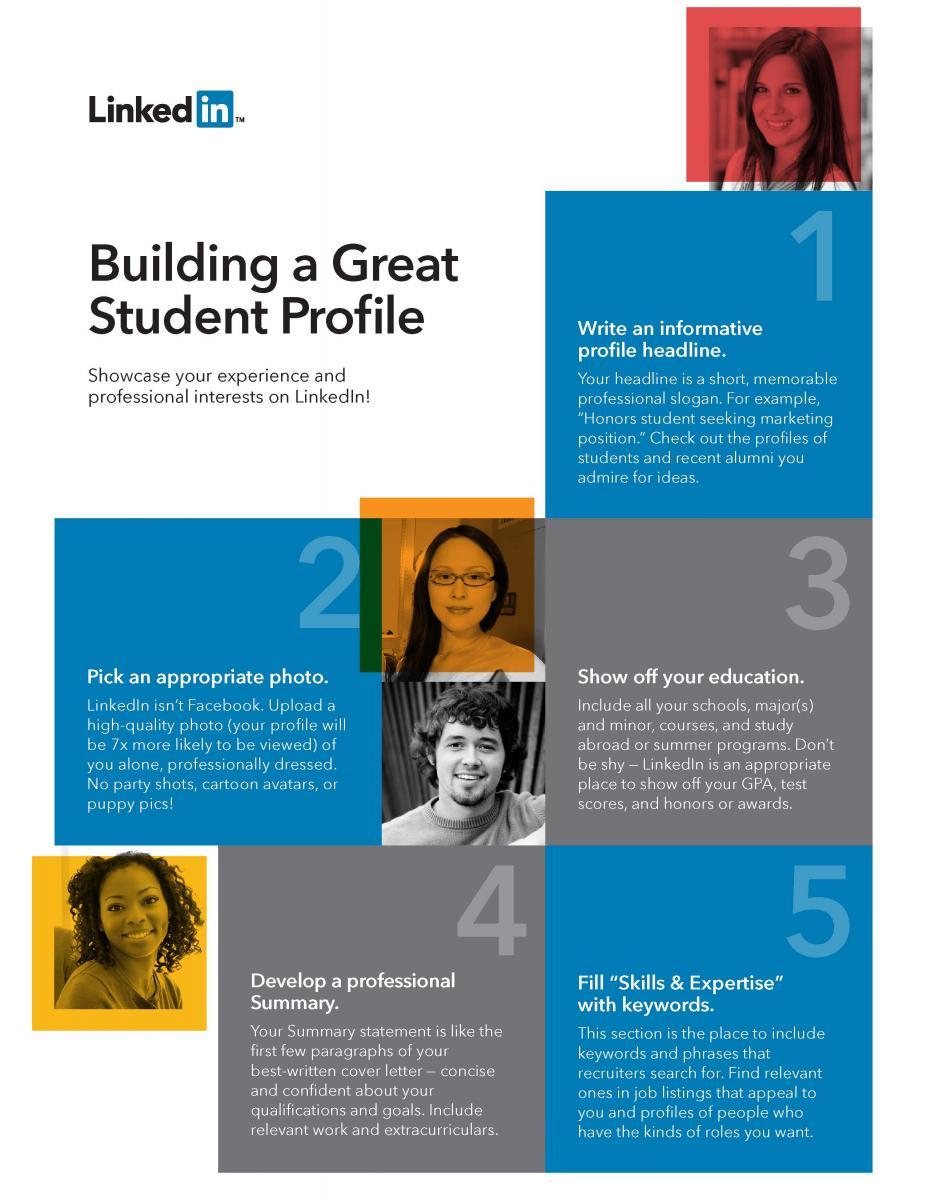 Linkedin Building A Great Student Profile Department Of Economics