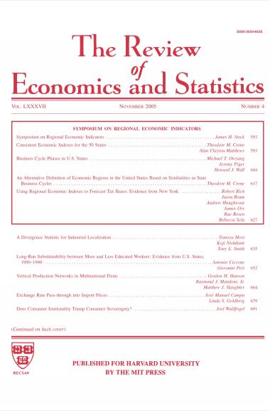 The Review of Economics and Statistics